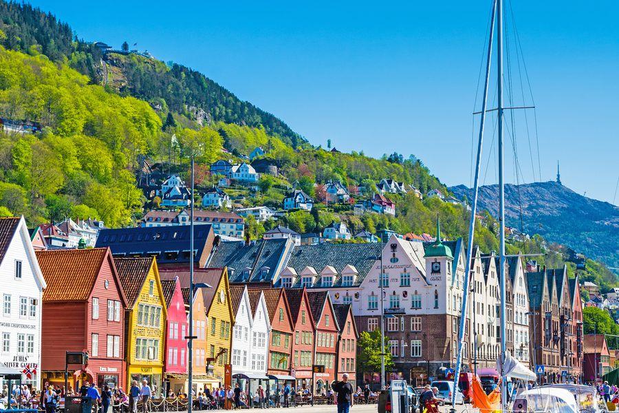 Bryggen in Bergen Noorwegen - Doets Reizen - Vakantie Noorwegen - Credit Fjord Bergen