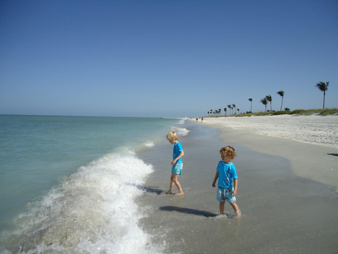 Het strand van Captiva Island Florida
