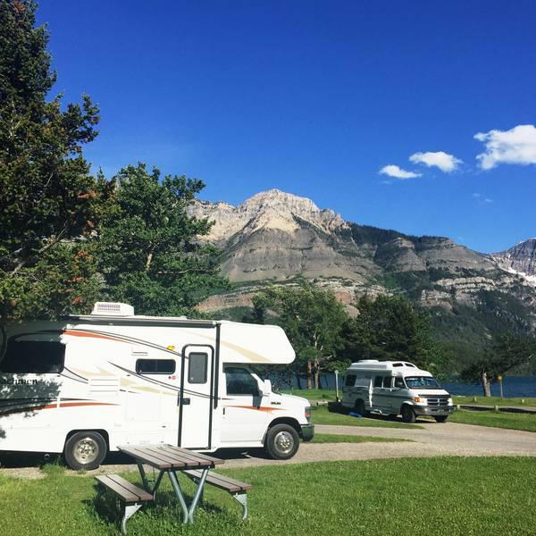 Townsite Campground, voorbeeld van een camperplek