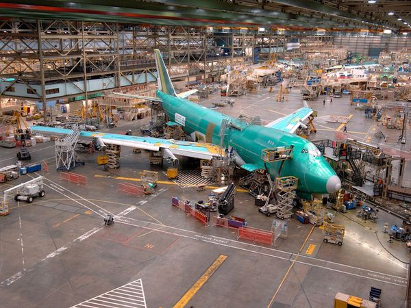 Boeing Fabriek in Everett, Washington State