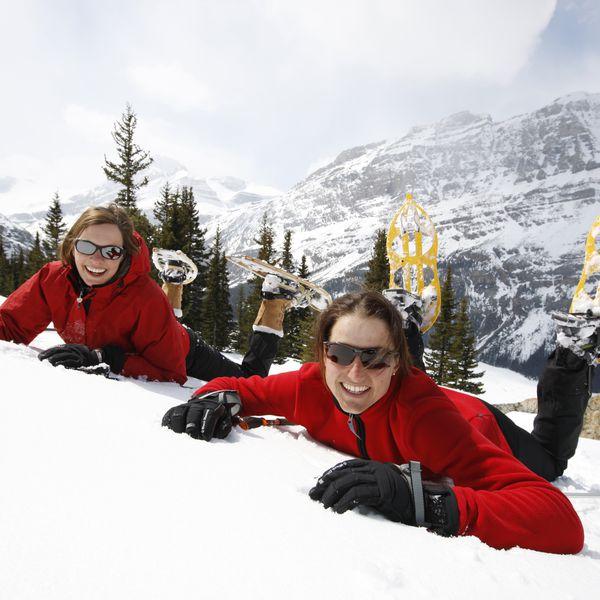 Snowshoeing in Banff Alberta Canada
