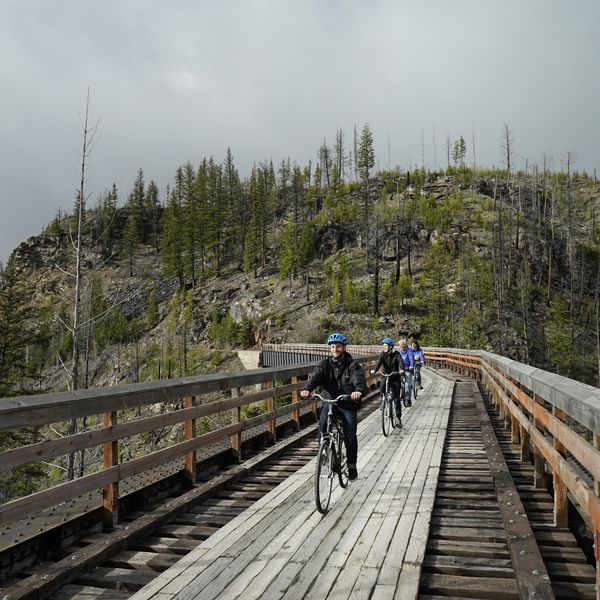 Myra Canyon Trestles & Tunnels guided bike tour - Kelowna - Okanagan Valley - British Columbia - Canada - Doets Reizen
