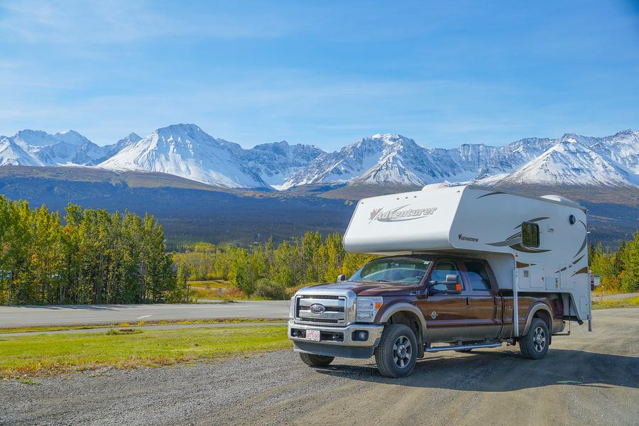 Toeren met de camper door Yukon Territory