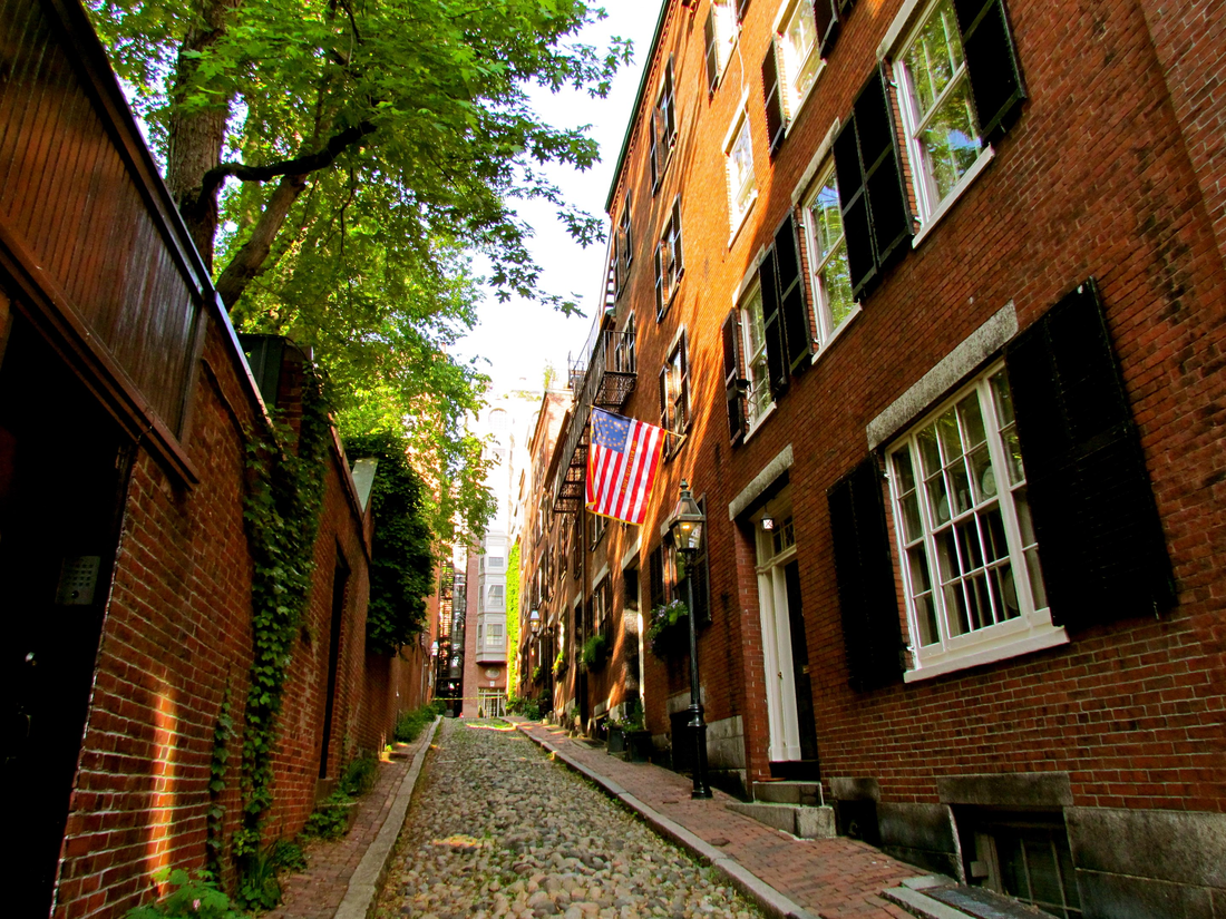 Straatbeeld in Beacon Hill, Boston