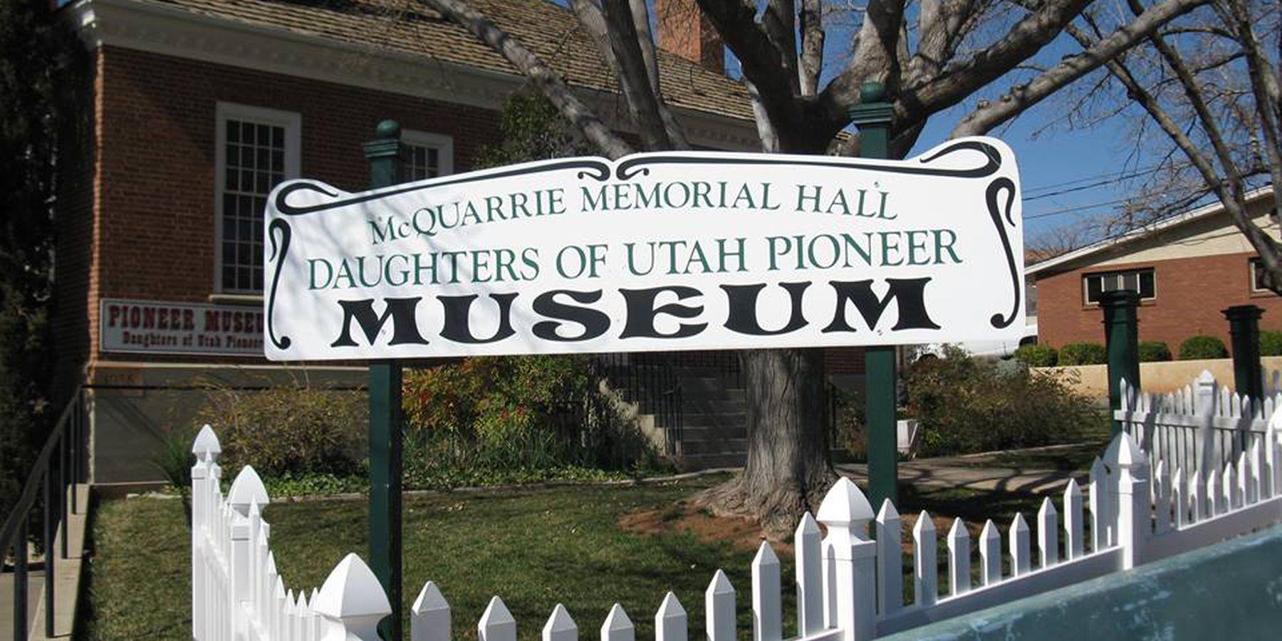 Daughters of Utah Pioneers - Logan - Utah - Doets Reizen