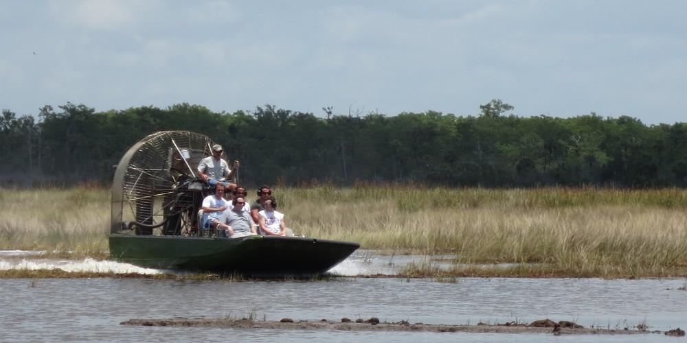 Een Airboat Tour bij het Everglades NP in Florida