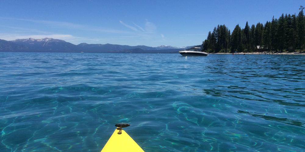 Kanovaren op Lake Tahoe