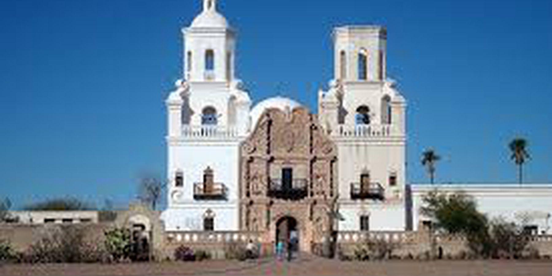 Mission San Xavier del Bac - Tucson - Arizona - Doets Reizen