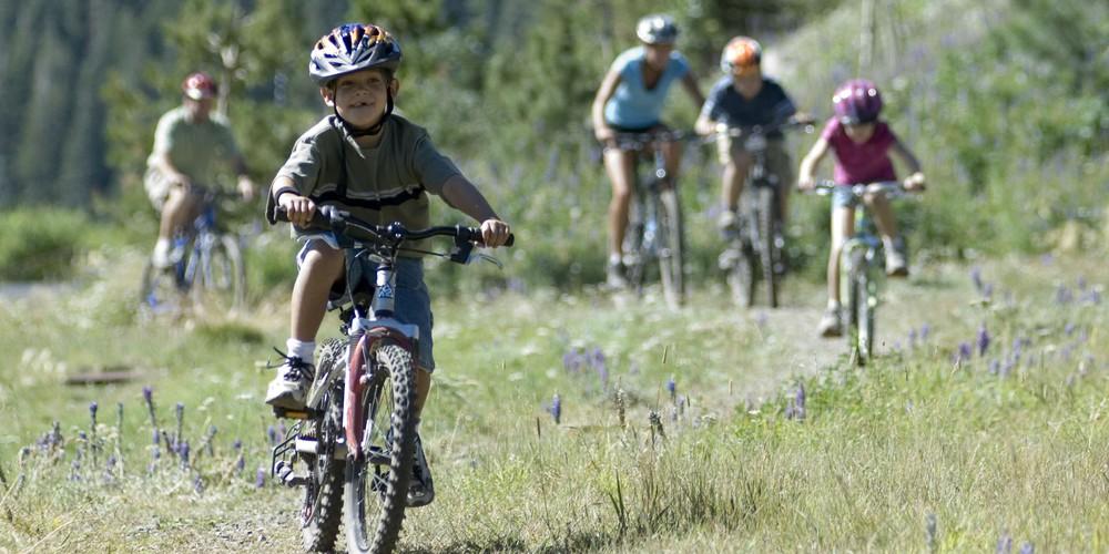 Mountainbike in Mammoth Lakes, California