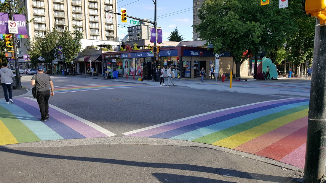 Davie Street - Vancouver - British Columbia - Canada - Doets Reizen