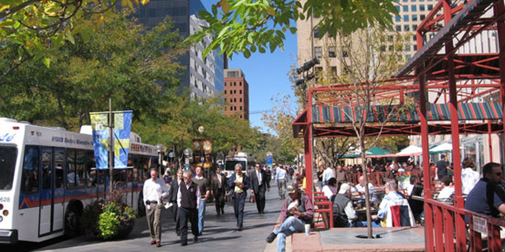 16th Street Mall in Denver, Colorado