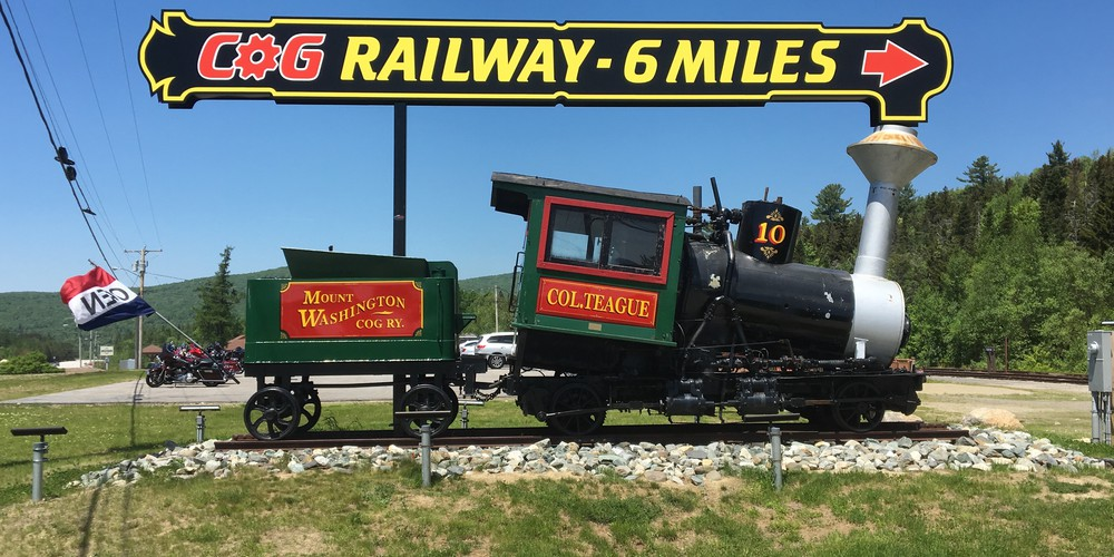 Cog Railroad in de White Mountains NH