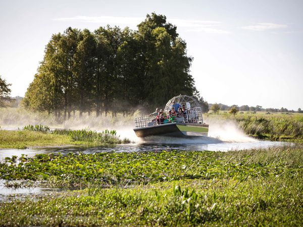 Airboat tour bij Kissimmee Florida.