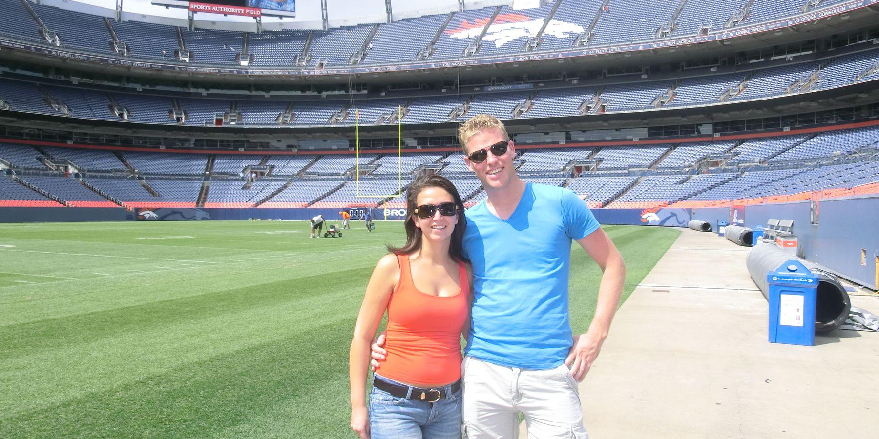 Sports Authority Field, thuisbasis van de Denver Bronco's in Denver, Colorado