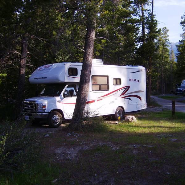 David Thompson Resort, camperplaats