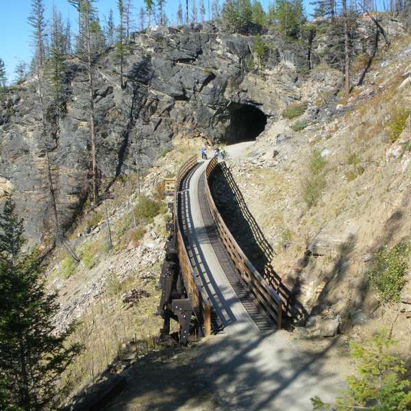 Myra Canyon Trestles & Tunnels guided bike tour