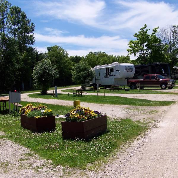 Chicago Northwest KOA, camperplaatsen