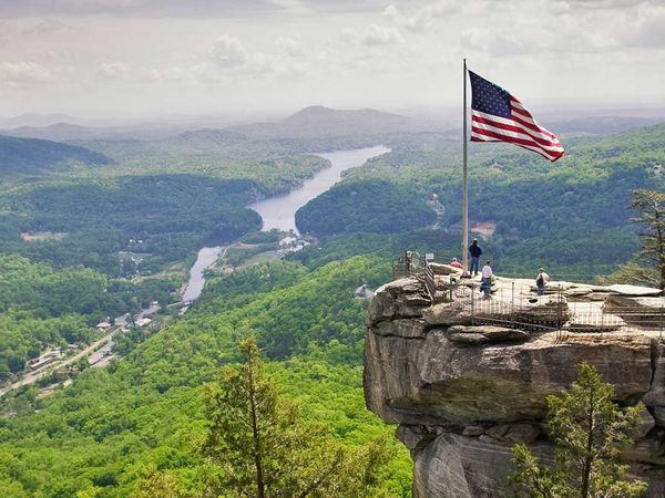 Chimney Rock State Park - Asheville - North Carolina - Amerika - Doets Reizen