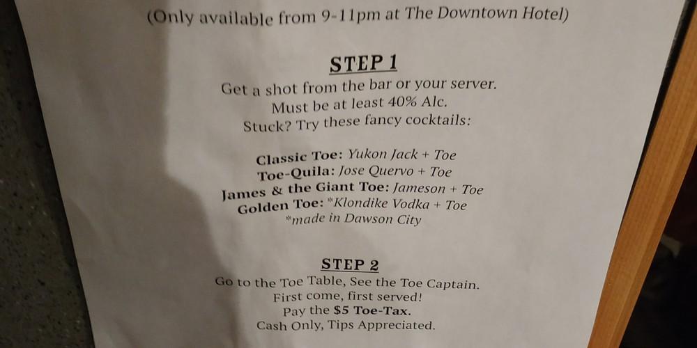 Sour Toe Cocktail - Dawson City - Yukon - Canada - Doets Reizen