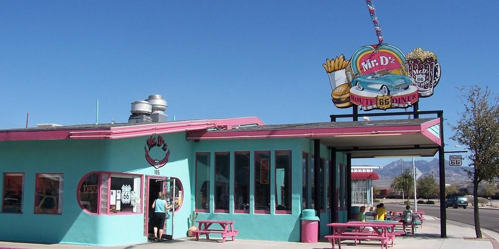 Authentiek stukje Route 66 in Arizona