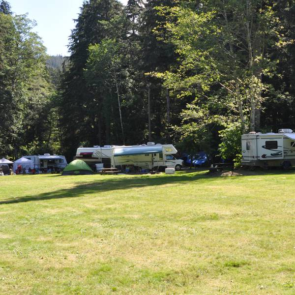 Telegraph Cove Resort, camperplaatsen