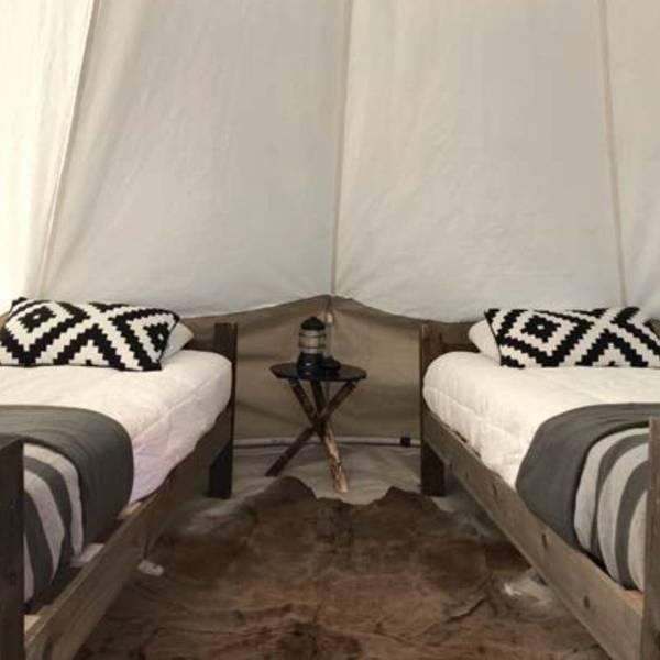 Under Canvas Smokey Mountain - dlx tent en hive