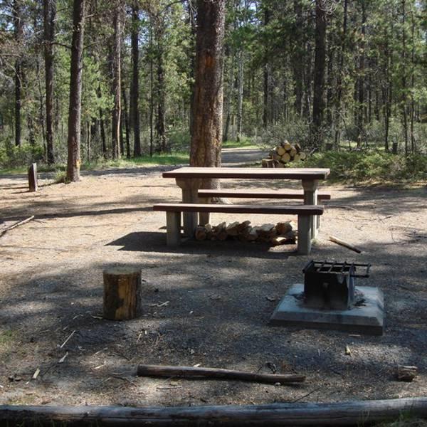Wapiti Campground, voorbeeld van een camperplaats
