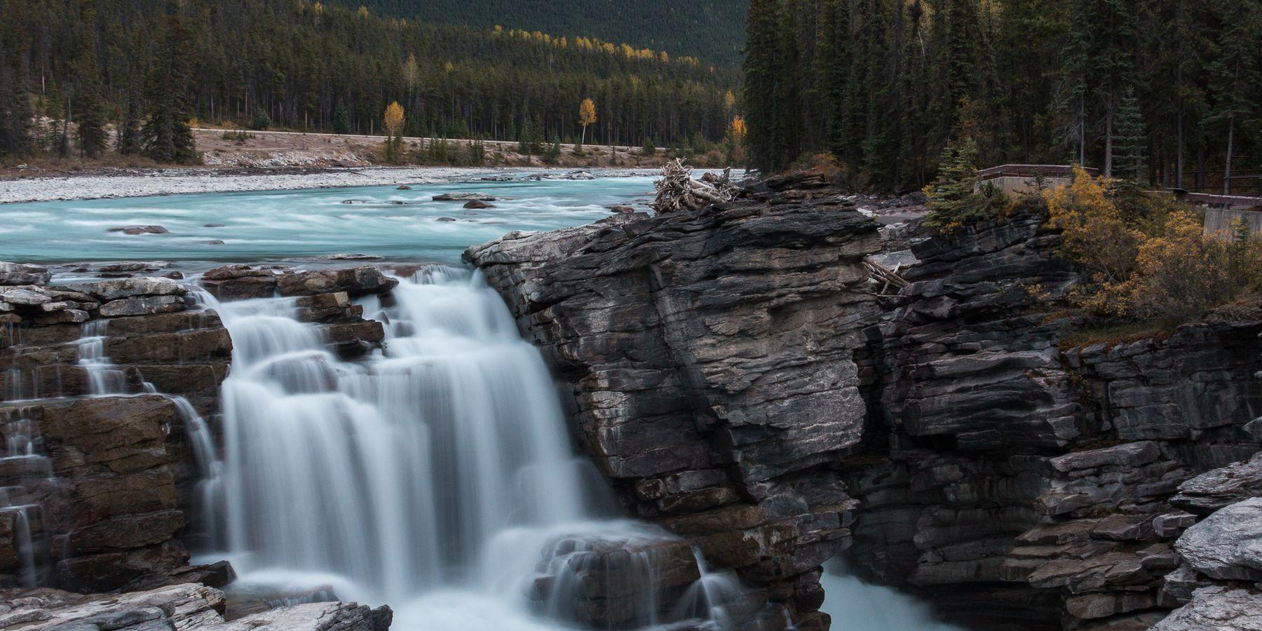 Athabasca Falls - Jasper National Park - Alberta - Canada - Doets Reizen