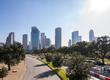 De skyline van Houston, Texas