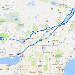 De heenreis naar Toronto - Dag 1 - Foto