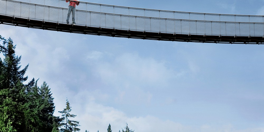 Capilano Suspenion Bridge - Vancouver - British Columbia - Canada - Doets Reizen