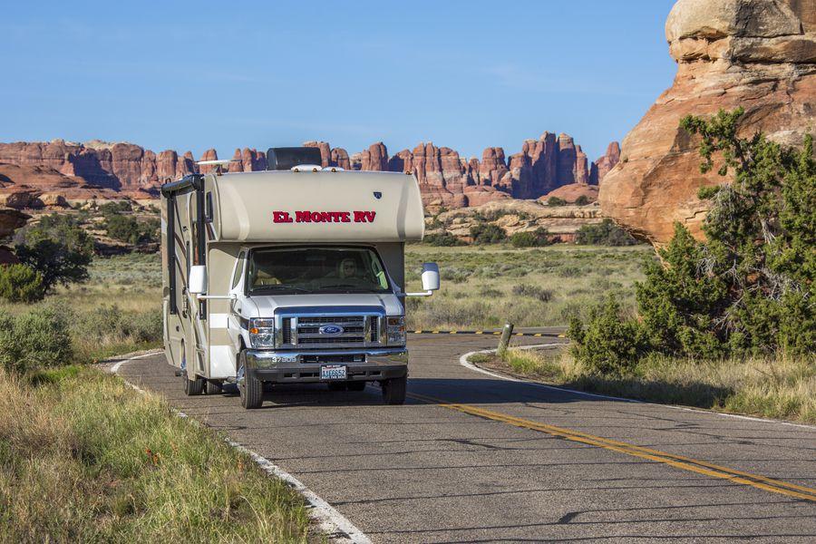Toeren door Canyonlands National Park met de camper