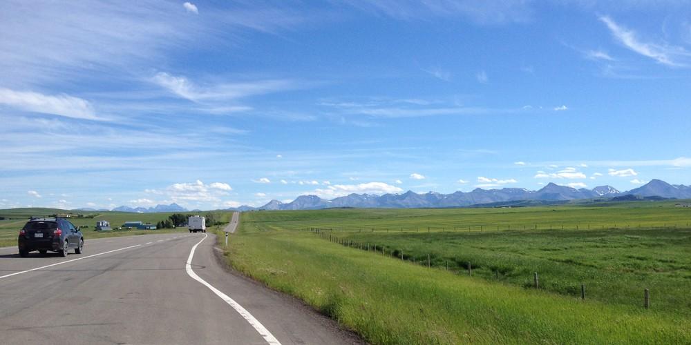 Onderweg naar Waterton Lakes National Park