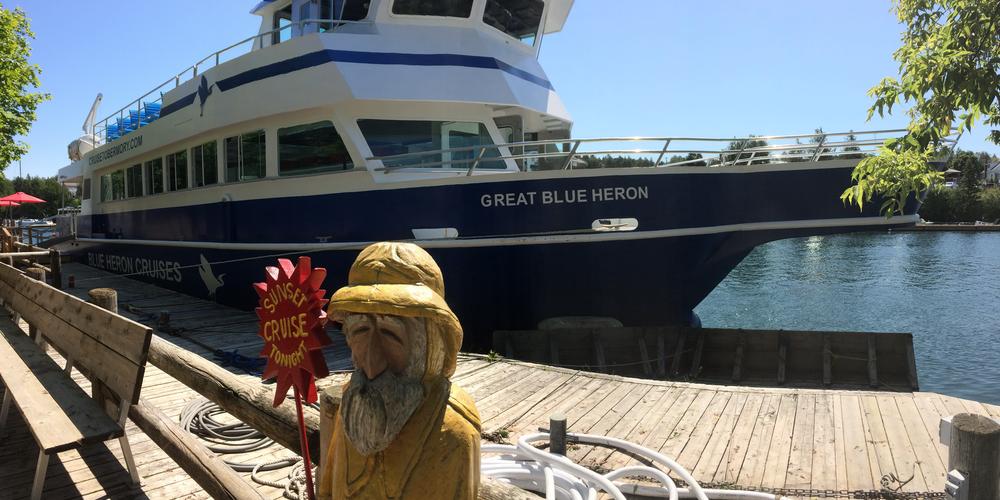 Met de boot naar het Fathom Five National Marine Park