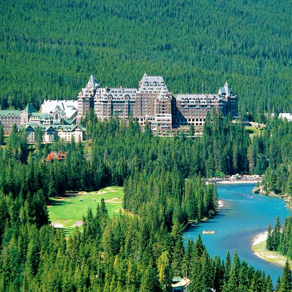 Fairmont Banff Springs - luchtfoto