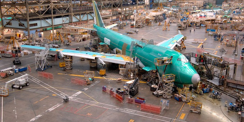 Boeing Fabriek in Everett, Washington State