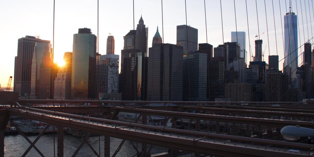 Uitzicht Brooklyn Bridge New York