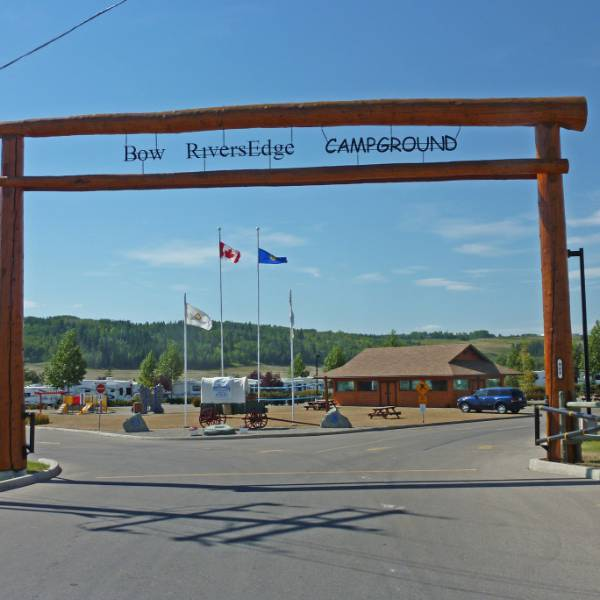 Bow RiversEdge Campground - Ingang
