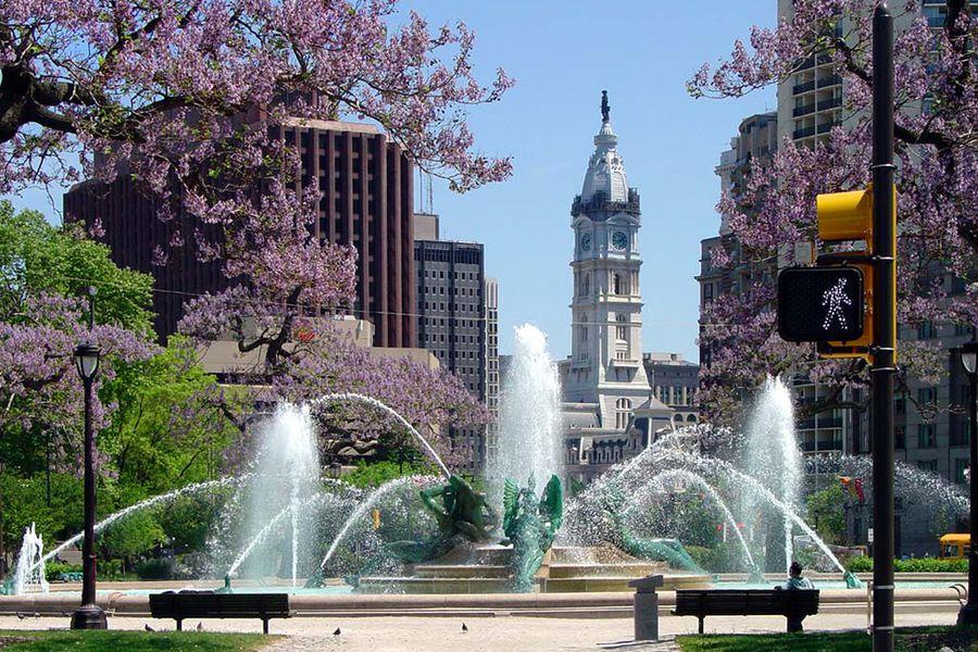 Swans Fountain - Philadelphia - Pennsylvania - Amerika - Doets Reizen