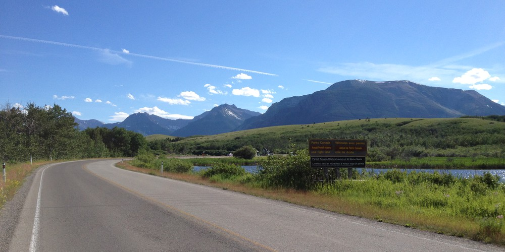 Richting Waterton Lakes National Park
