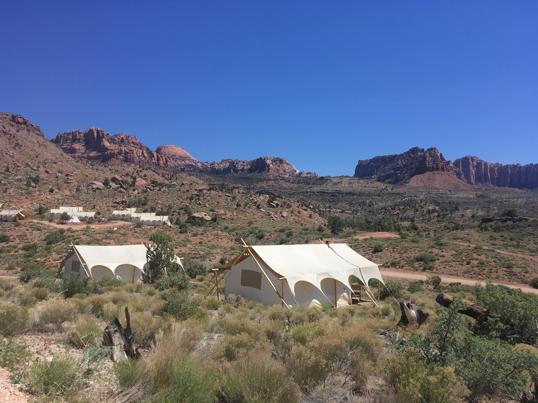 Glamping Zion NP in Utah