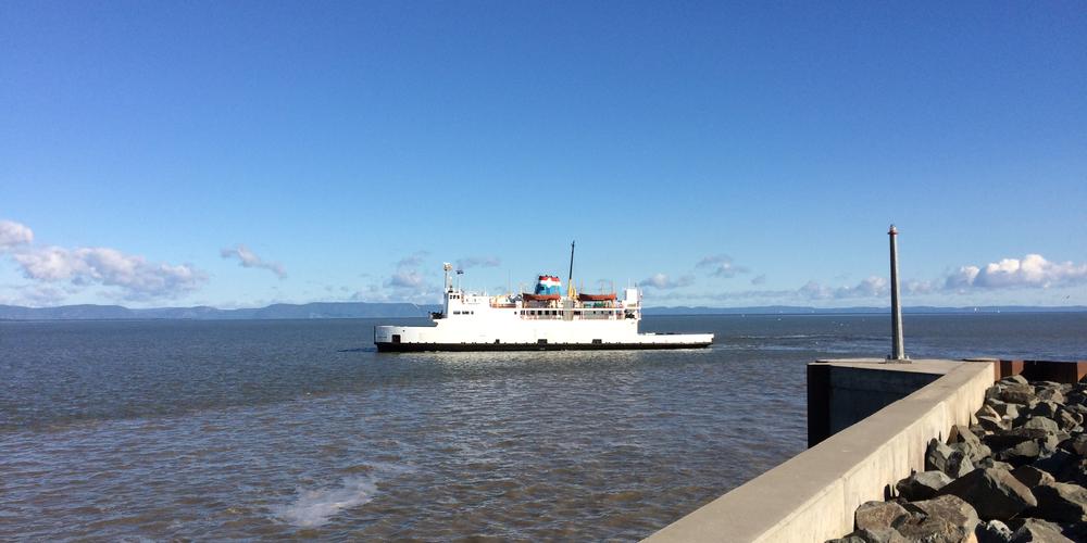 De ferry van Rivière-du-Loup naar Saint-Siméon