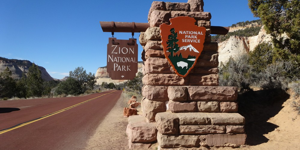 Entree Zion National Park Utah.