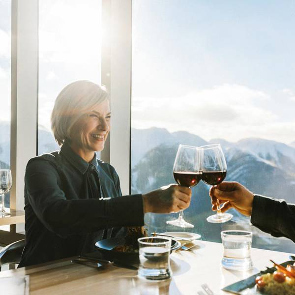 Wintersport - Sky Bistro - Banff -  Alberta - Canada - Doets Reizen