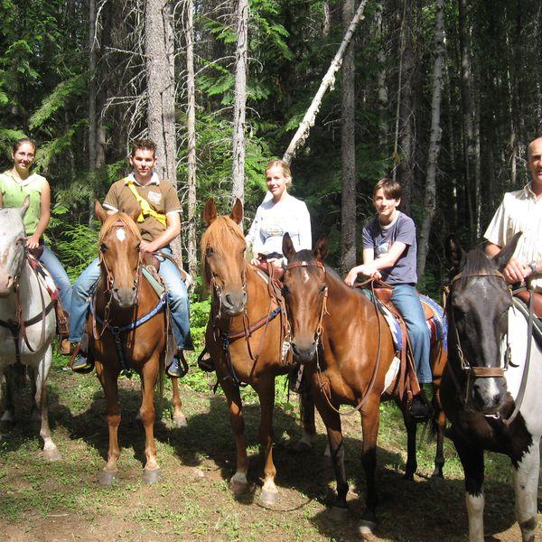 Wells Gray Provincial Park Paardrijden