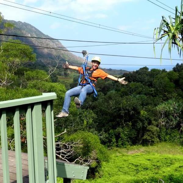 Zipline Kualoa Ranch - Oahu - Hawaii - Doets Reizen