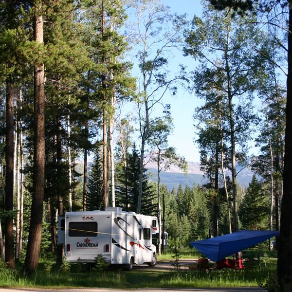 Whistlers Campground, kamperen in de natuur