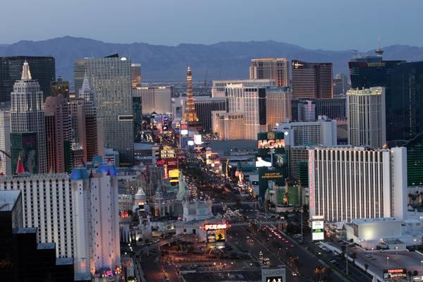 De Strip in Las Vegas, Nevada
