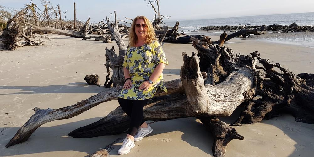 Driftwood Beach - Jekyll Island - Georgia - Amerika - Doets Reizen