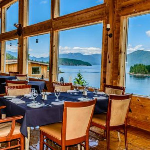 West Coast Wilderness Lodge patio